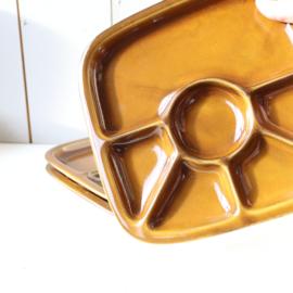 Vintage monkey platter / fondeu borden