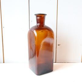 vintage vaas bruin glas