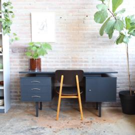 Vintage bureau jaren 60 70 grijs