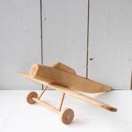 Vintage vliegtuig van hout speelgoed