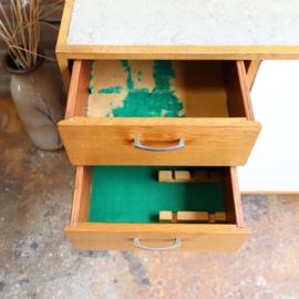 Vintage dressoir kast licht hout