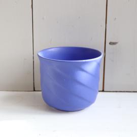 Vintage bloempot w-germany blauw