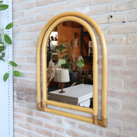 Rotan bamboe spiegel