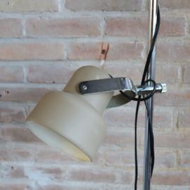 Vintage staande lamp beige