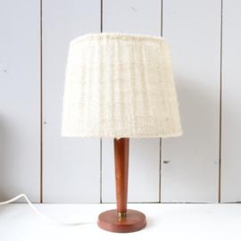 Vintage teak lampje met kap