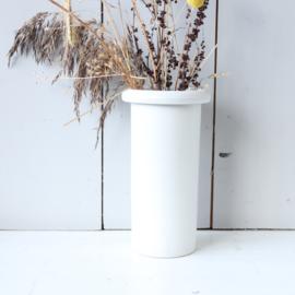 Vintage vaas wit aardewerk