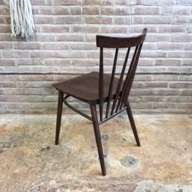 Spijlen stoel hout donker