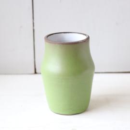 Vintage klein vaasje groen