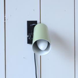 Vintage wandlamp groen zwart