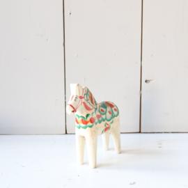 Vintage dalarna paard wit nils olsson