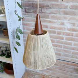 Vintage lamp hout teak