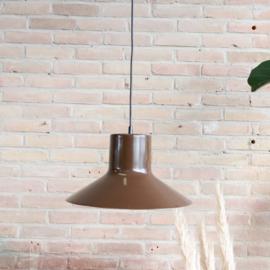 Vintage Philips lamp bruin industrieel