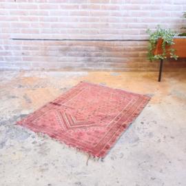 Vintage tapijt roze  100 x 77