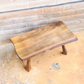Vintage boomstam bijzettafel hout