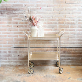Vintage bar cart trolley goud