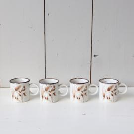 Vintage espresso kopjes jaren 70 graan