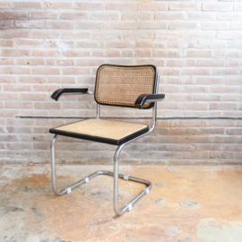 Vintage webbing stoel zwart