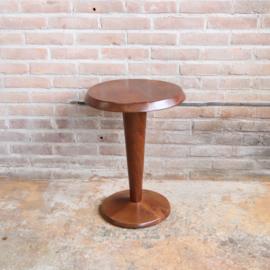 Vintage bijzettafel rond hout