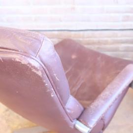 Vintage Artifort fauteuil leer