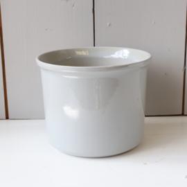 Vintage bloempot grijs