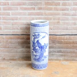 Vintage paraplubak blauw  wit