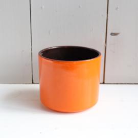 vintage bloempot oranje adco