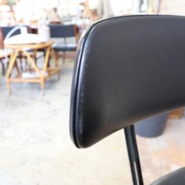 Vintage bureau stoel zwart Ahrend