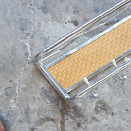 Vintage kapstok rvs rotan