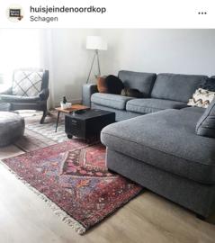 vintage tapijten over elkaar