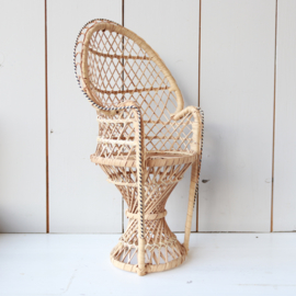 vintage poppen pauwenstoel