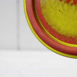 Vintage bloempot groen geel