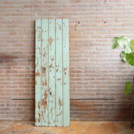 Vintage hout paneel oud verf mint