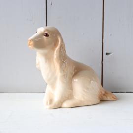 Vintage beeld hond keramiek