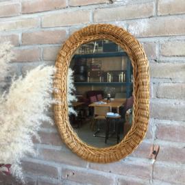 Vintage spiegel rotan