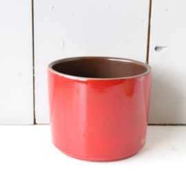 Vintage bloempot rood adco