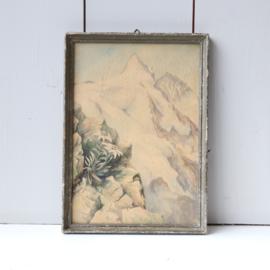 Vintage lijst tekening bergen