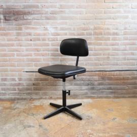 Vintage bureau stoel zwart