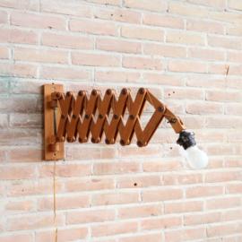 Schaarlamp hout