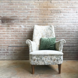 Vintage bloemen fauteuil