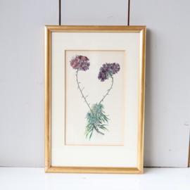 Vintage bloemenprint goud lijst