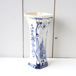 Vintage vaas ''delfs blauw''