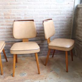 Set van 4 vintage eettafel stoelen