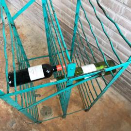 vintage industrieel wijnrek
