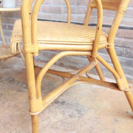 Vintage rotan eettafel stoel