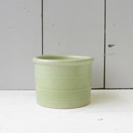 vintage bloempot pastel groen