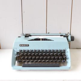 vintage typemachine blauw
