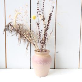Vintage vaasje roze ciro