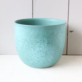 Vintage w-germany turquoise pot XL