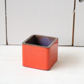 Vintage mini potje rood