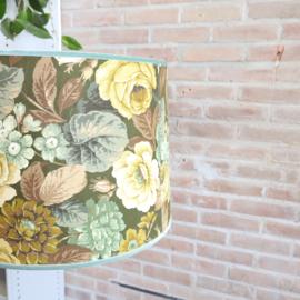 Vintage bloemenlamp